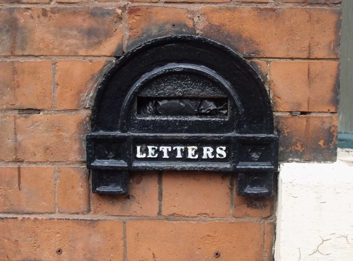 Old Victorian letterboxes around the Jewellery Quarter