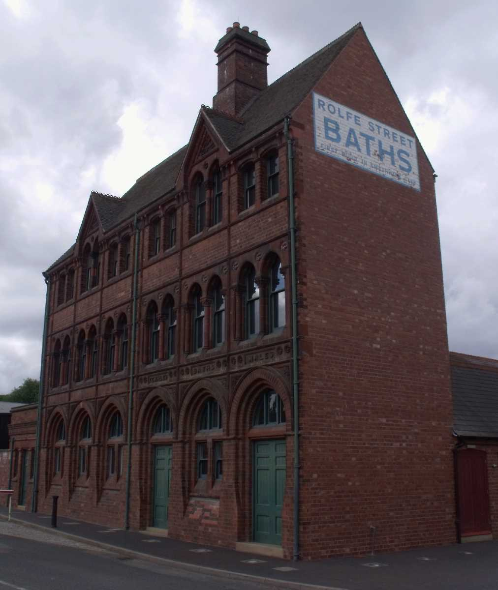 Outside the main entrance of the Black Country Living Museum